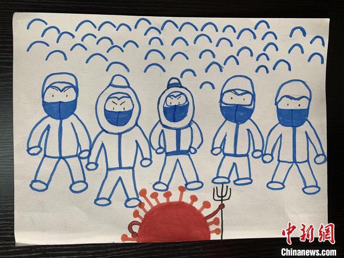 """8岁学生创作抗""""疫""""绘本 儿童视角传递必胜信心"""